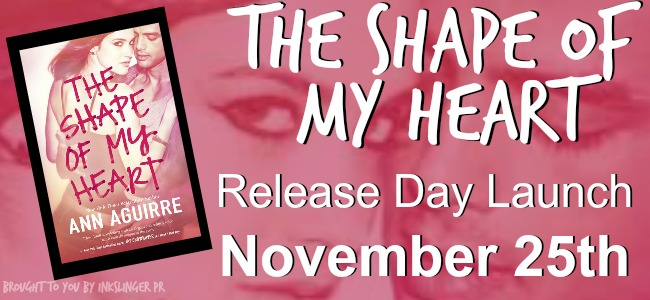 Review & Giveaway - The Shape of My Heart by Ann Aguirre