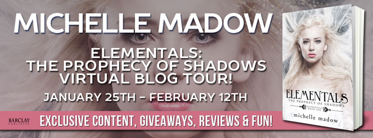 The Prophecy of Shadows by Michelle Madow - Madow's Top Five Addictions & Kindle Fire Giveaway