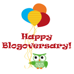 Happy blogoversary graphic
