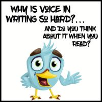 Why Is Voice in Writing So Hard? And Do You Think About It When You Read? Let's Discuss.